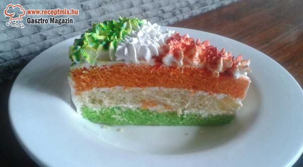 Tricolor sütemény
