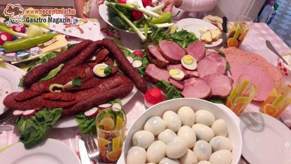 Húsvéti sonka, kolbász, tojás
