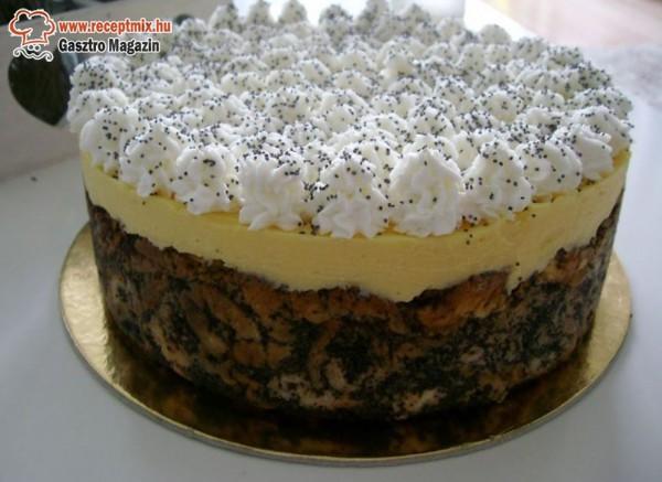 Mákos guba tortában