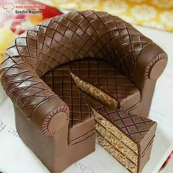 Mézes - csokis fotel