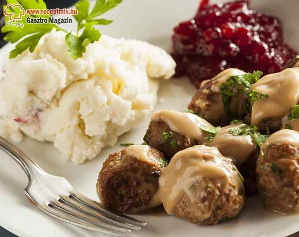 Húsgolyók, Svéd módra, körettel