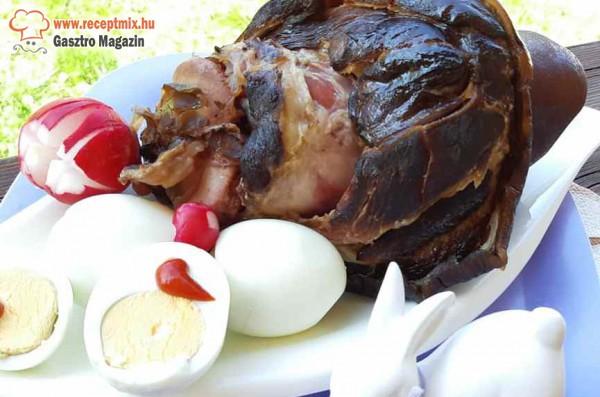 Húsvéti sonka, tojás, retek