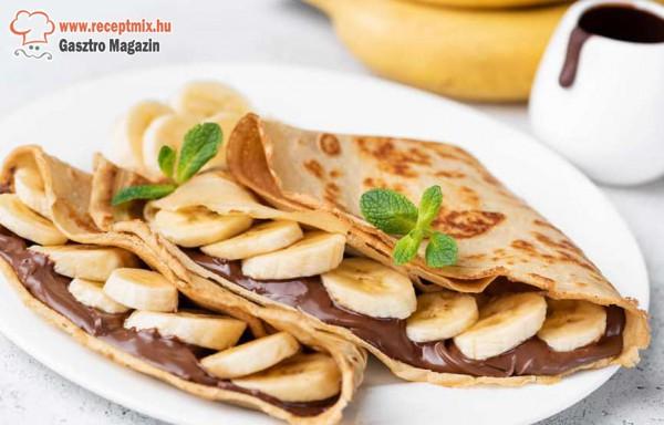 Csokis - banános palacsinta