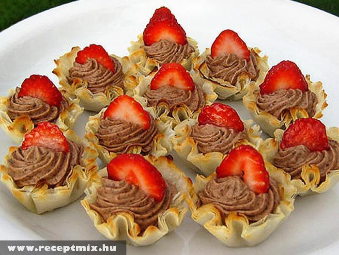 Epres csokikrémes kosárkák