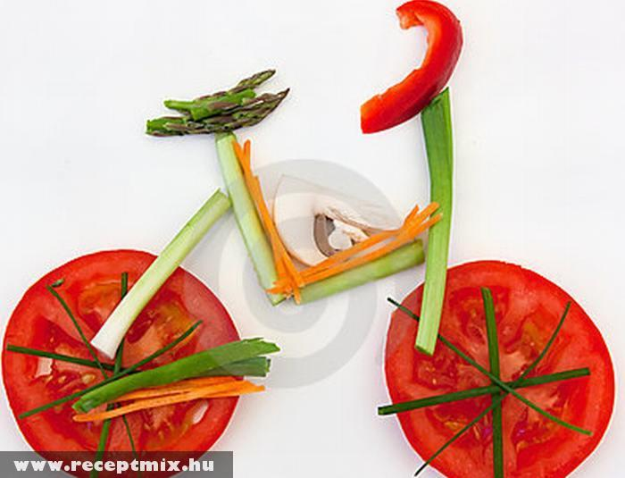Bicikli zöldségekbõl