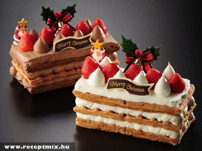 Karácsonyi epres sütemény