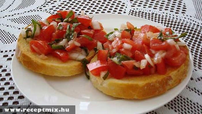 Újévköszöntõ zöldséges szendvics