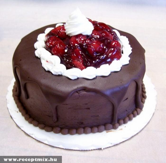 Gyümölcsös csokitorta