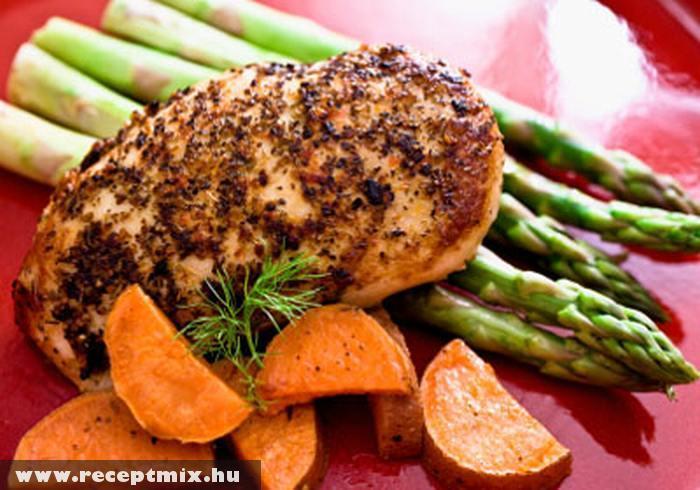 Grillezett husi zöldségekkel