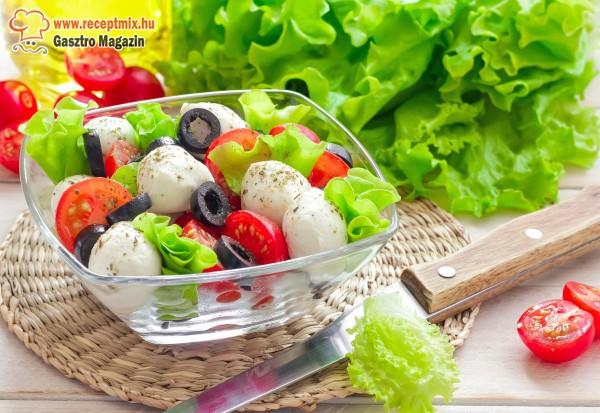 Saláta mix olivaolajjal