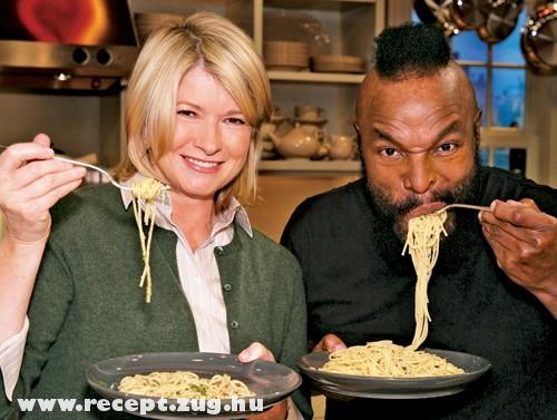 Martha Stewart és a szupercsapat egyik tagja