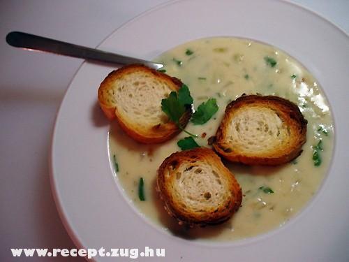 Fokhagyma krém leves pirítóssal
