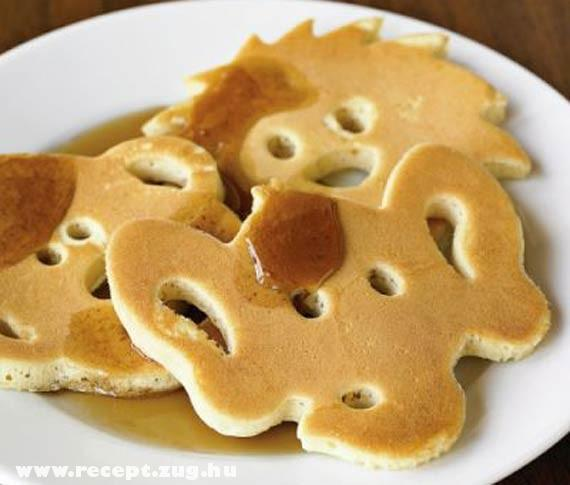 Állatok palacsinta tésztából