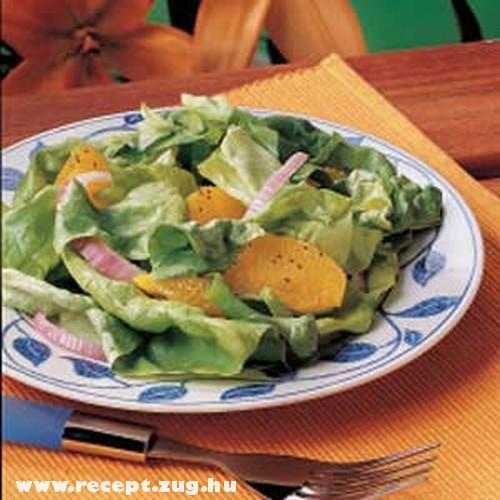 Fejessaláta narancsal