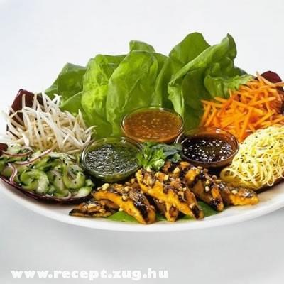 Fejes saláta - öntet variációkkal