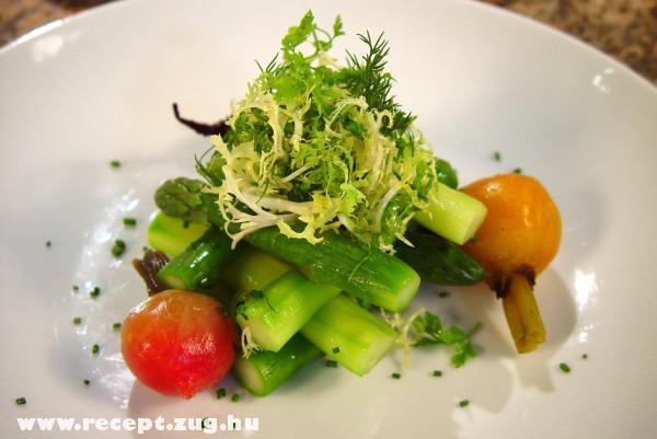 Prémium spárga saláta