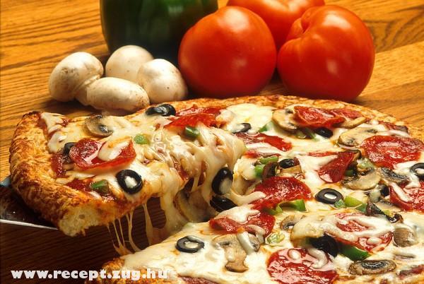 Folyik a sajt a pizzáról
