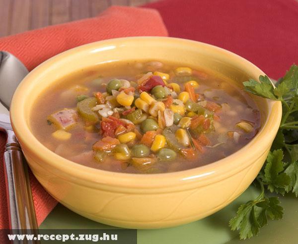 Egy tál zöldség leves