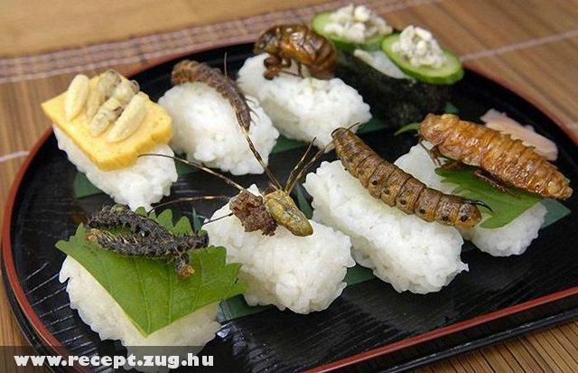 Sült rovarok