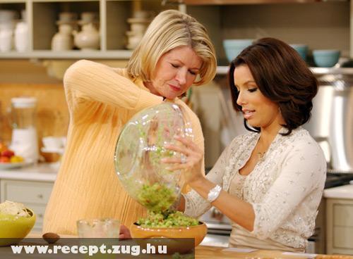 Eva Longoria & Martha Stewart guacamole-t készít