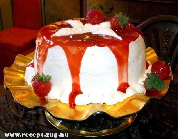 Joghurt torta eper öntettel