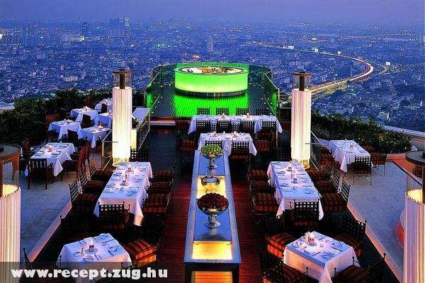 Étterem a város felett