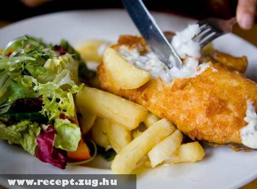 Sült hal krumplival