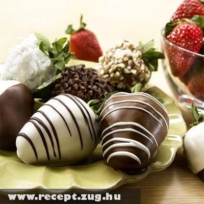 Eper csokoládéba forgatva