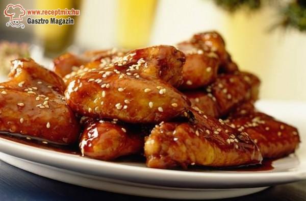 Szezámmagos csirke (kínai falatok)