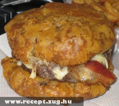 Sült sajtburger