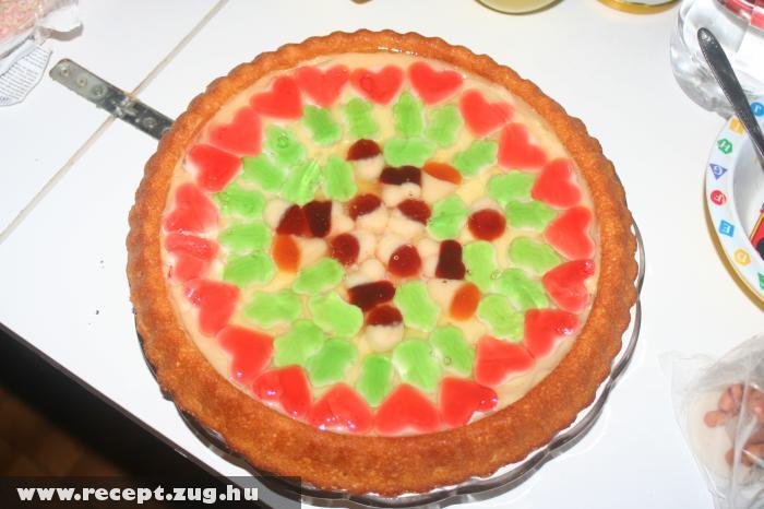 Gumimacis gyümölcszselés torta Utasiné módra
