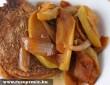Paprikás, hagymás hús