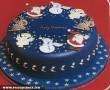 Kékmarcipános karácsonyi torta