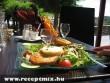 Egészség tál egy étteremben