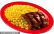 Sült borda rizzsel és zöldséggel