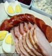 Húsvéti kolbász, sonka, tojás