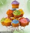 Színes muffinkosár