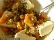 Zöldségek sajttal vegyítve