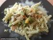 Húsos zöldséges tészta