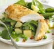 Csirkemell zöldségágyon