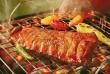 Grillezett husi, grillezett zöldségekkel