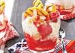 Poharas-gyümölcsös finomság