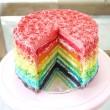 Többszínű torta