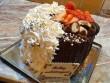 Csokikrémes torta, eper, tejszínhab, miegymás