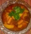 Kolbász, paprikás krumpli