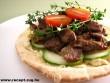 Pita halmozott hússal