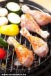 Csirkecomb és zöldség grillezés