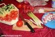 Saláta alap: ubi, paprika, paradicsom, retek, hagyma