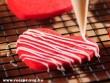 Valentin napi piros süti