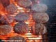 Hamburger pogácsa grillen sütve